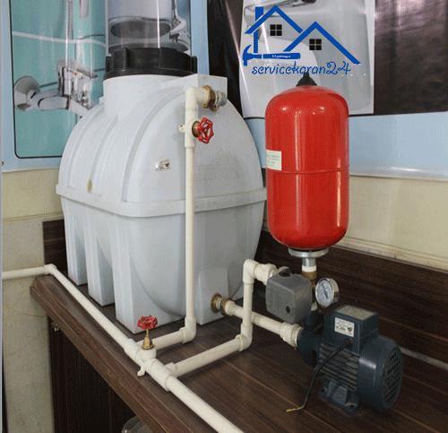 نصب پمپ آب خانگی و منبع
